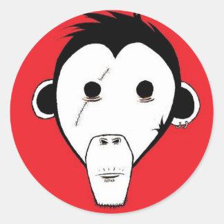 Gutter Monkey Sicker Green Round Sticker