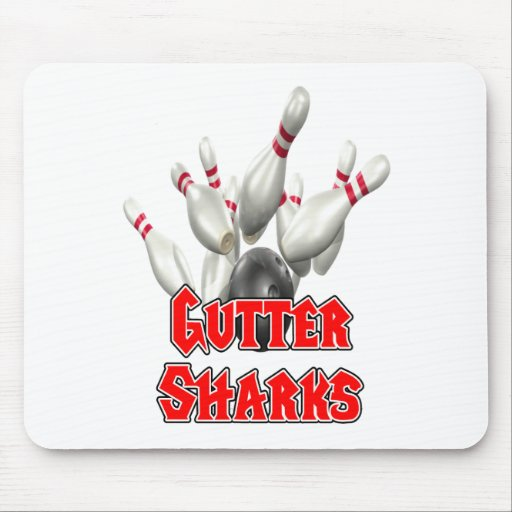 Gutter Sharks Bowling Mouse Pad