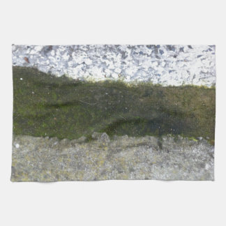 Gutter Trash -- Slime with concrete gutter. Hand Towel