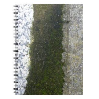 Gutter Trash -- Slime with concrete gutter. Spiral Note Books