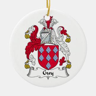Guy Family Crest Christmas Ornament