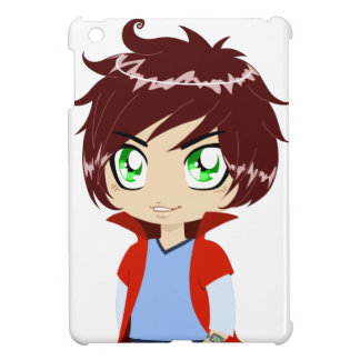Guy In Blue Clothes Wearing Red Cape iPad Mini Cases