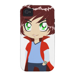 Guy In Blue Clothes Wearing Red Cape iPhone 4 Cases