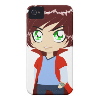 Guy In Blue Clothes Wearing Red Cape iPhone 4 Covers