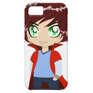 Guy In Blue Clothes Wearing Red Cape iPhone 5 Case