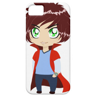 Guy In Blue Clothes Wearing Red Cape iPhone 5 Covers