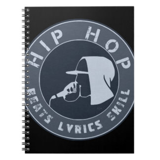 GUY IN HOODIE RAPPING ON THE MIC SPIRAL NOTEBOOK