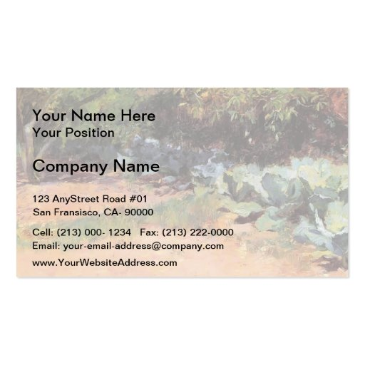 Guy Rose- The Cabbage Patch Business Cards
