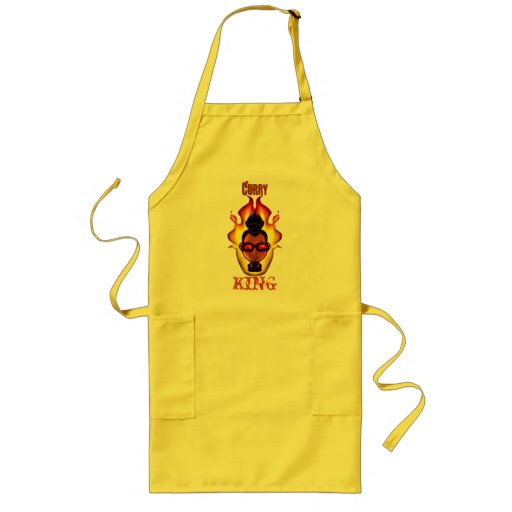 Guy - Shaded - Flames - 'Curry King' Aprons
