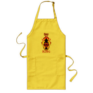 Guy - Shaded - Flames - Curry King Aprons