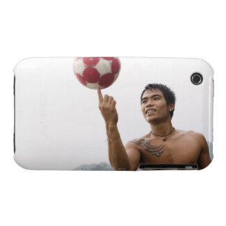 Guy spinning football on finger iPhone 3 cover