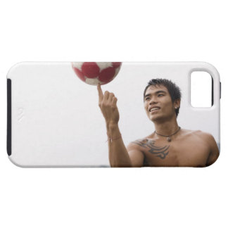 Guy spinning football on finger iPhone 5 covers