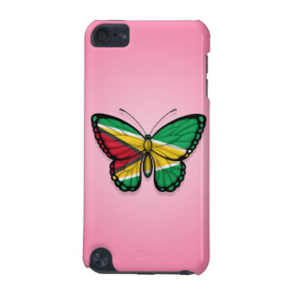 Guyana Butterfly Flag on Pink iPod Touch 5G Case