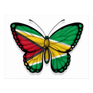 Guyana Butterfly Flag Postcard