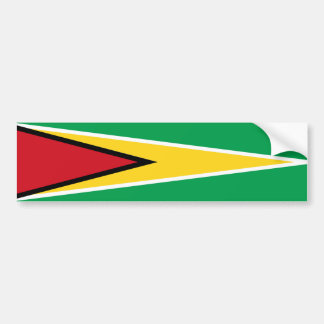 guyana country flag nation symbol long bumper sticker