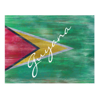 Guyana distressed flag postcard