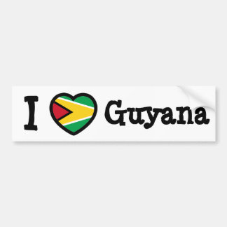 Guyana Flag Bumper Sticker