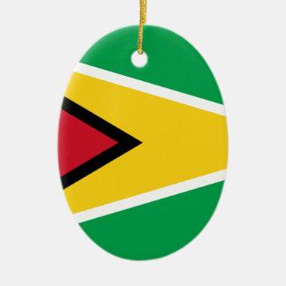 Guyana Flag Christmas Ornament