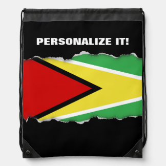 Guyana Flag Drawstring Bag
