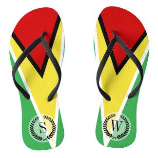 Guyana Flag Flip Flops