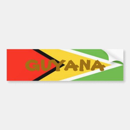 Guyana-Flag, GUYANA Bumper Stickers