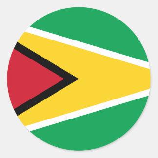 Guyana Flag GY Classic Round Sticker