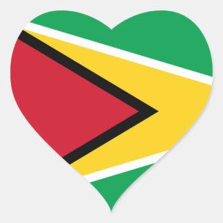 Guyana Flag GY Heart Sticker
