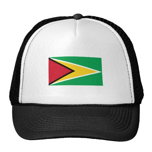 Guyana FLAG International Trucker Hats