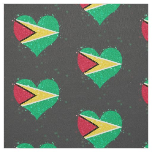 Guyana Flag Shining Beautiful Fabric