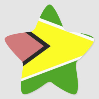Guyana Flag Star Sticker