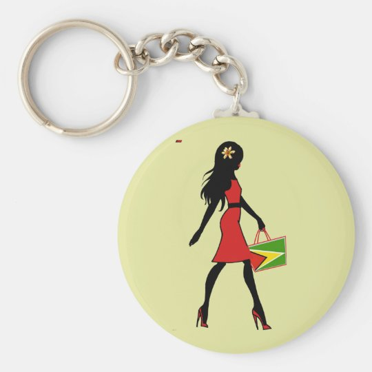 Guyana Girl Keychain