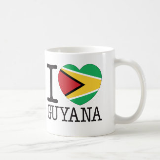 Guyana Love v2 Basic White Mug
