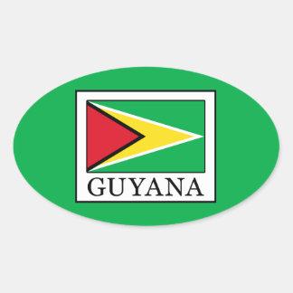 Guyana Oval Sticker