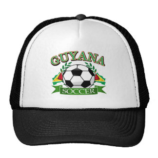 Guyana soccer ball designs mesh hats