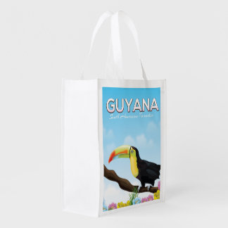 Guyana South american paradise travel poster
