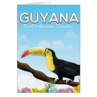 Guyana South american paradise travel poster Card