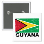 Guyana Vintage Flag 15 Cm Square Badge