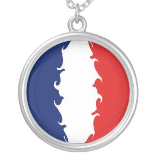 Guyane Gnarly Flag Round Pendant Necklace