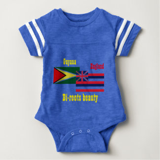 guyanese-british t-shirts-bi-roots beauty baby bodysuit