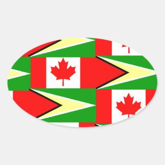 guyanese canadian oval sticker