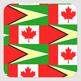 guyanese canadian square sticker