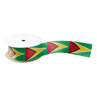 Guyanese flag ribbon satin ribbon