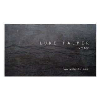 Guy's Cool Simple Rustic Black Abstract Pack Of Standard Business Cards