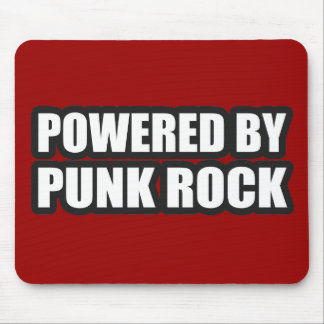 guys girls POWERED BY PUNK ROCK music Mouse Pad