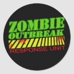 guys girls undead zombies funny zombie shirt round stickers
