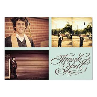 Guys Graduation THANK YOU Photo Card 13 Cm X 18 Cm Invitation Card