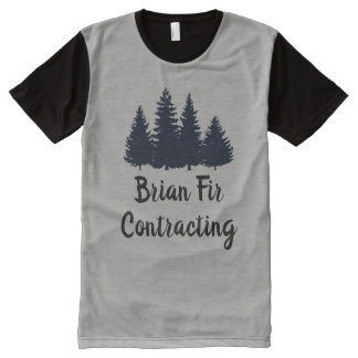 Guys T-Shirt Pine Trees Add Your Own Business Name