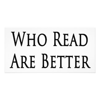 Guys Who Read Are Better In Bed Picture Card