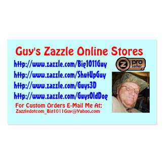 Guy's Zazzle Business Card