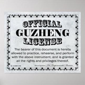 Guzheng License Poster